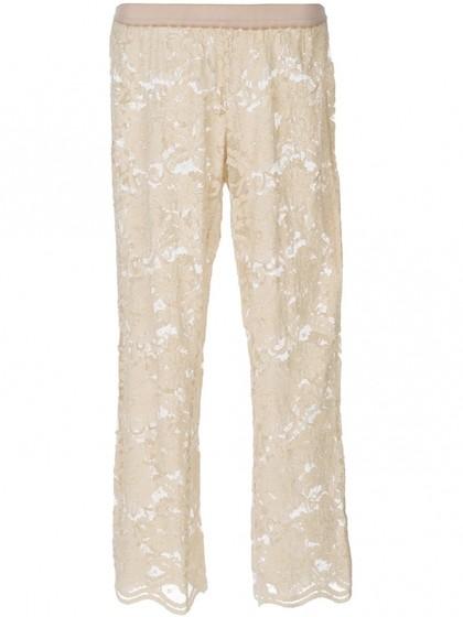 С чем носить: кружевные брюки