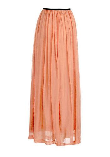 С чем носить: длинная юбка