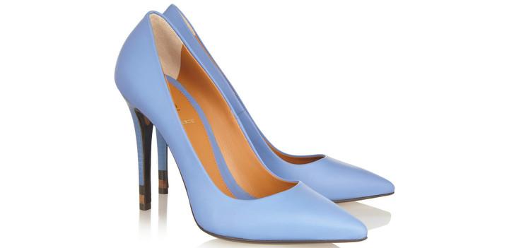 С чем носить: голубые туфли-лодочки
