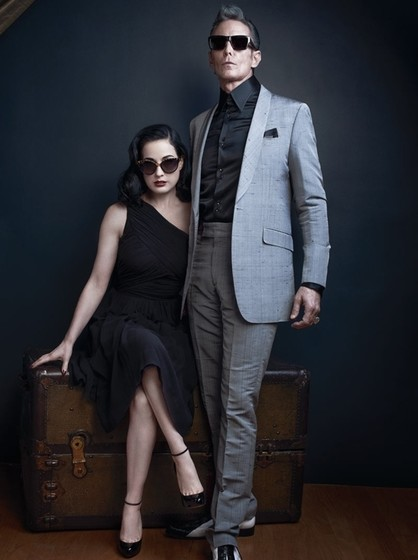Дита фон Тиз в новой рекламной кампании очков Dita Eyewear