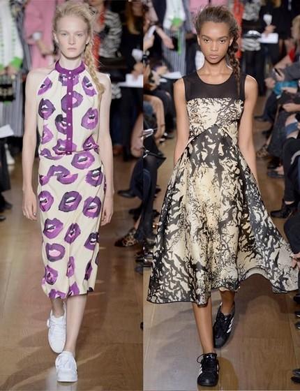 Неделя моды в Лондоне: английские розы и школьная форма